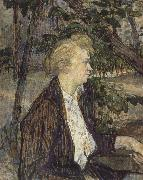 Woman Seated in a Garden Henri de toulouse-lautrec